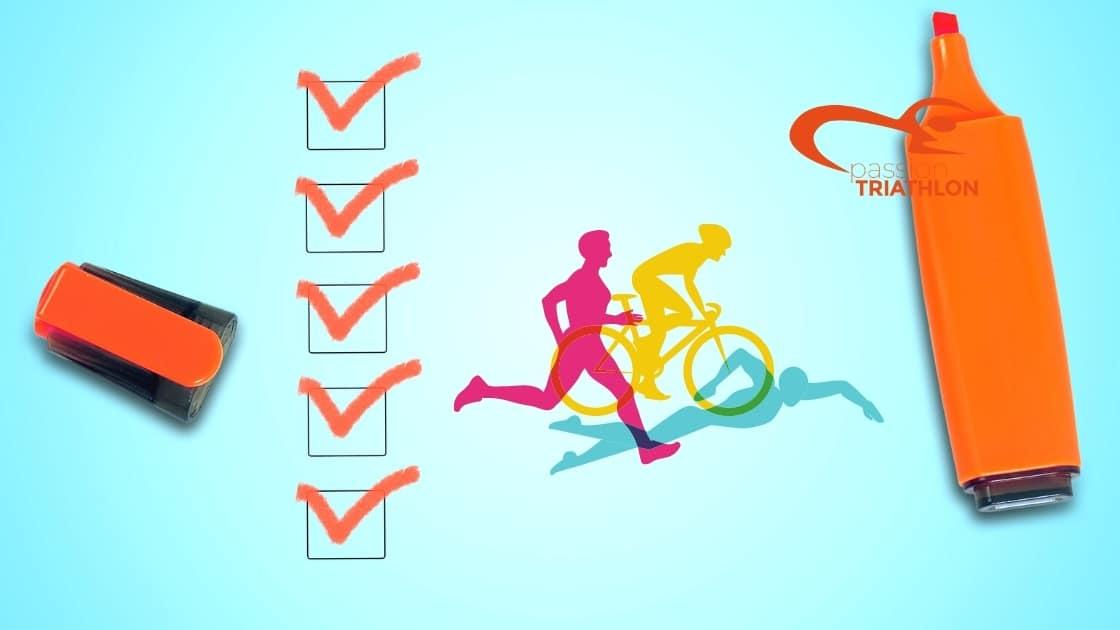 La check-list Ultime pour le jour de la course de triathlon